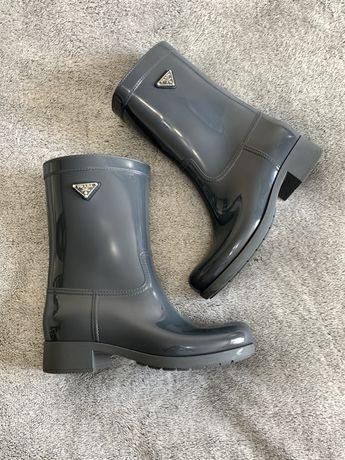 Prada wellington boots резиновые сапоги ботинки осенние 37-38