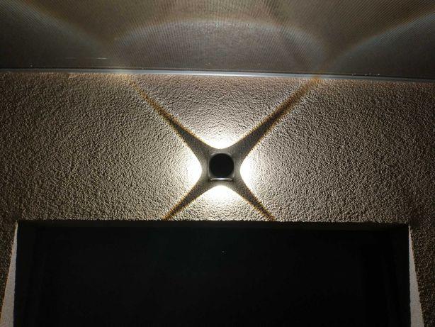 Kinkiet zewnętrzny , wewnętrzny LED Gwiazdka , lampa ogrodowa.