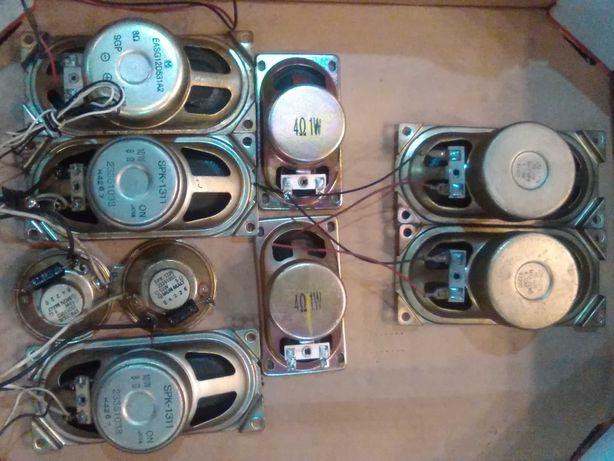 głośniki 10W 8 ohm 7sztuk + 2(gratis) tv toshiba,lg i inne