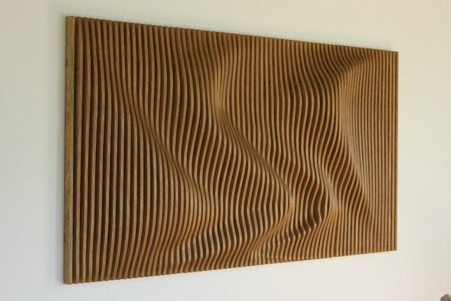 Obraz WOODEN WAVE 1 - obraz drewniany, salon, biuro, sypialnia