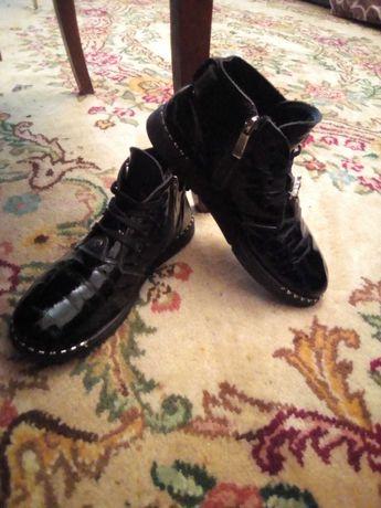 Ботинки Деми. Ботиночки. Кожаные. 35 р.