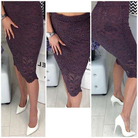 Женская юбка, с гипюром 46р