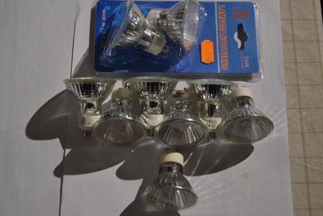 9 lampadas de halogénio