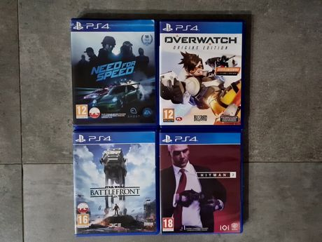 Gry na PS4, dokupienia razem bądź osobno.