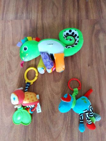 Lampka/pozytywka i dwie zabawki