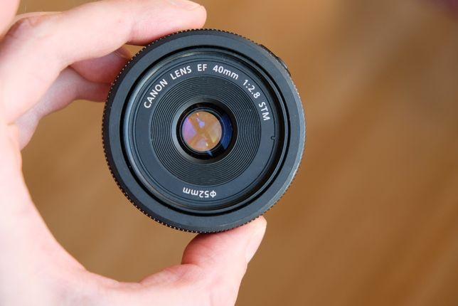 Canon 40mm EF F2.8 sprawny komplet pancake naleśnik