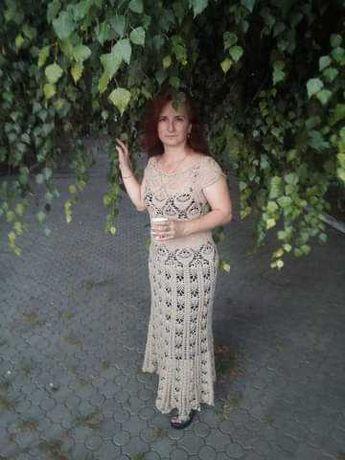 Продам вязаное платье...