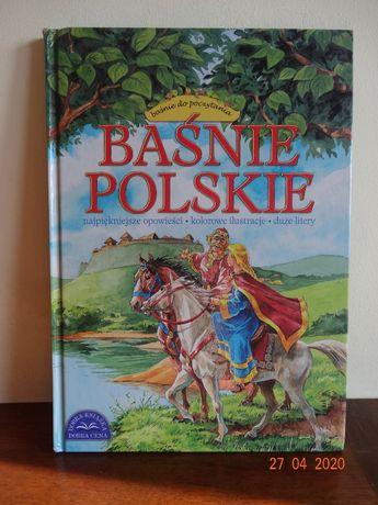 Baśnie Polskie - kolorowe ilustracje, duze litery
