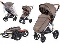 Wózek spacerówka SUMMER BABY model SEMPRE duże koła i PLECAK