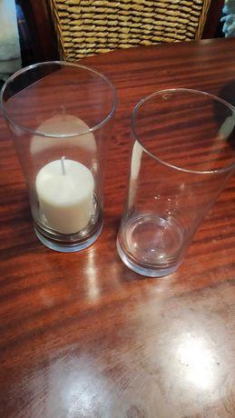 Porta velas de vidro