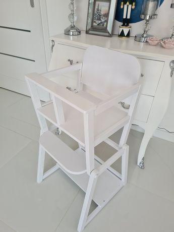 Krzesełko do karmienia, stoliczek 2w1 dla dziecka drewniany