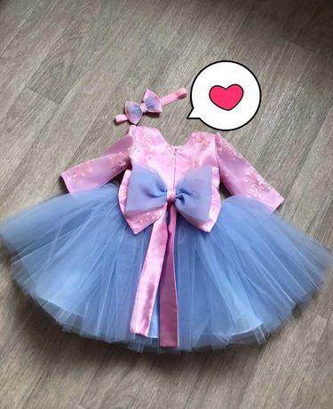 Платье на 1 годик и кроссовки пушистые ушки , плаття сукня на рочок
