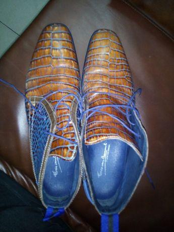 Туфлі-ботинки голландські FLORIS VAN BOMMEL, шкіряні
