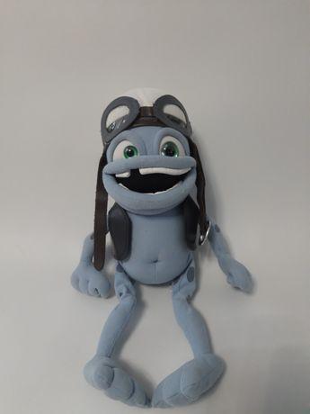 Раритетная мягкая игрушка жабка crazy frog, сумасшедшая жаба.