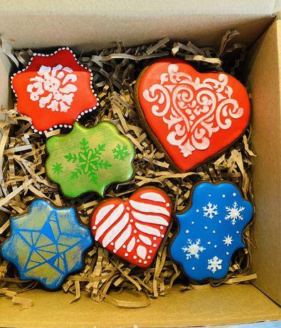 Pierniki dekoracyjne na prezent lub inne okazje
