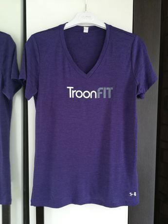Fioletowa koszulka/ t-shirt sportowy M Under Armour