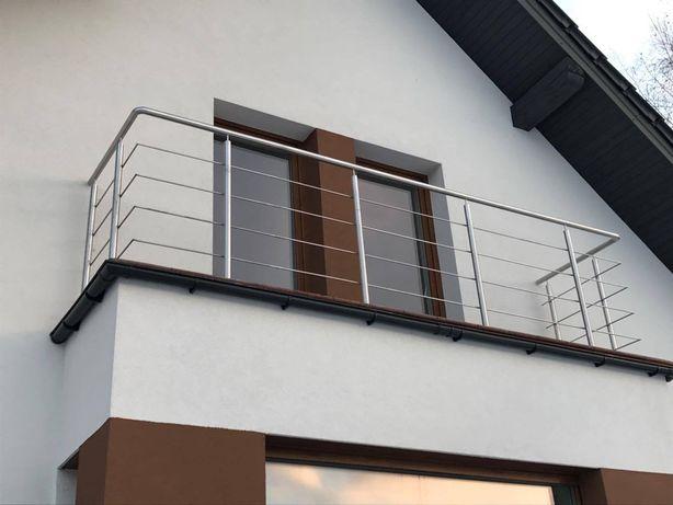 Balustrada balkonowa balkonowe ze stali nierdzewnej najtaniej w polsce