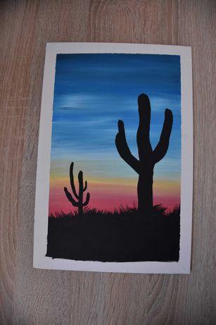 Obraz akryl na plotnie-Kaktusy