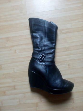 Жіночі зимові шкіряні чобітки 38р