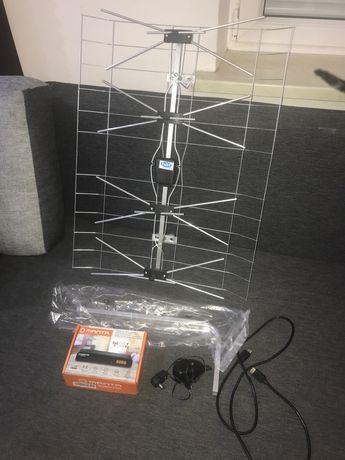 Dekoder DVBT2 zestaw z anteną