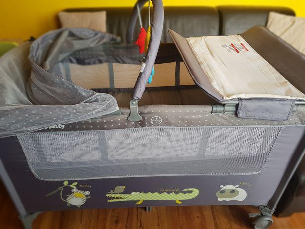 Łóżeczko turystyczne Milly Mally Mirage Deluxe Grey