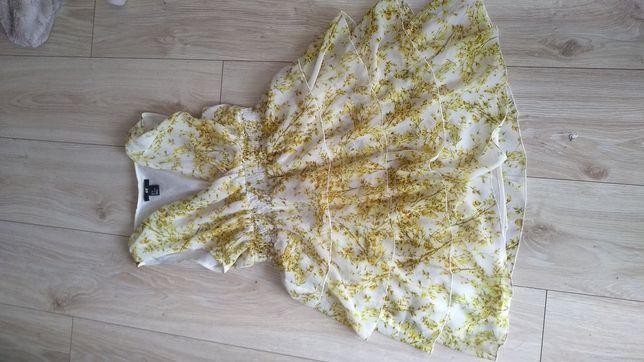 Sukienka h&m kwiaty,rozm s