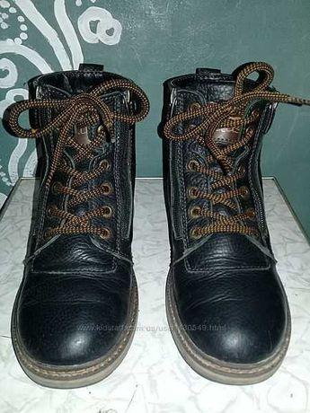 Ботинки зимние кожа для мальчика б/у
