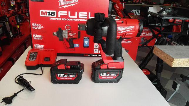 Milwaukee klucz udarowy akumulatorowy 1'' 2400Nm zestaw 2 x 12,0Ah FV