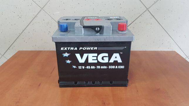 Nowy Akumulator Samochodowy Vega 45Ah 50Ah 52Ah 53Ah P+ L 330A