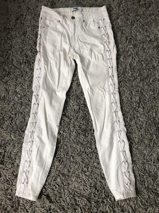Spodnie skinny z wiązaniami po bokach New Yorker rozmiar S Unisław - image 1