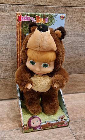 Masza i Niedźwiedź, lalka Masza w przebraniu Miszy 2w1, 25 cm