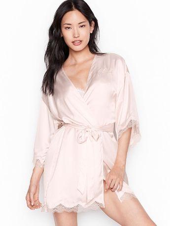 szlafroczek DRUHNY / Victoria's Secret / pudrowy róż