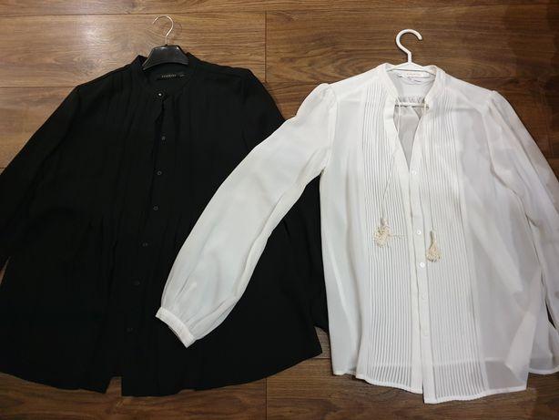 Koszula koszule 36 reserved biała czarna 2szt. 35zł
