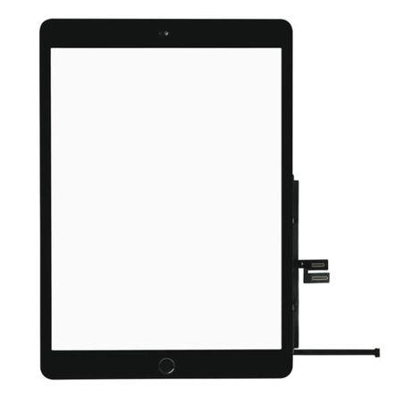 Vidro + Touch / Digitizer para iPad 7 Com Botao Home - Preto e Branco
