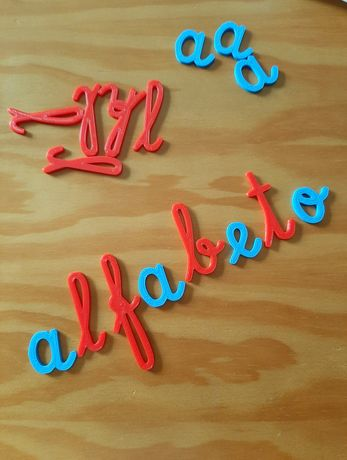 Letras magnéticas, Alfabeto móvel Montessori, letras manuscrito