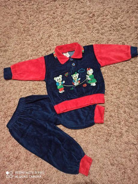 Костюм, комплект,набор, кофта,штаны, спортивный костюм велюровый,1 год