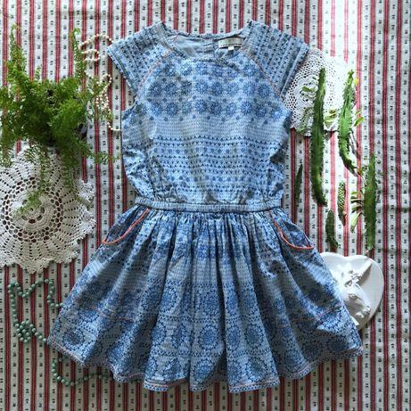 Пышное платье принт хлопок Bhs на 6-7 лет
