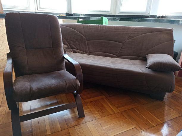 Komplet! Kanapa sofa rozkładana regulowana AgataMable +fotele