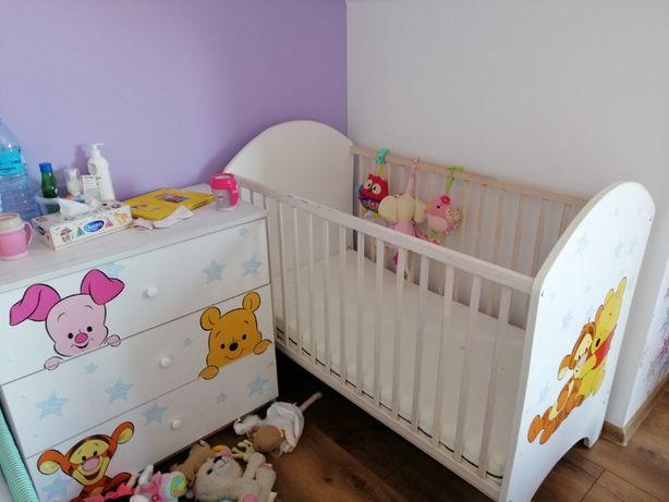 Łóżko dziecięce + materac + komoda gratis prześcieradło