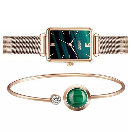 Жіночий годинник на руку з прикрасою в кольорах