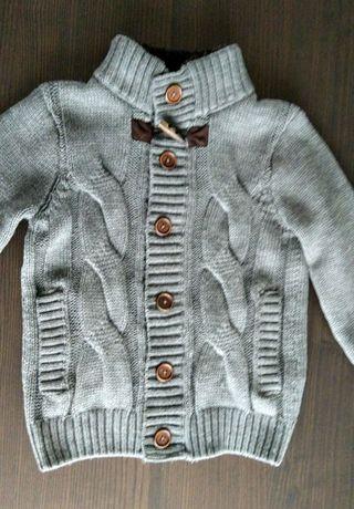 Kardigan chłopięcy LCW TEEN sweter rozpinany z kieszeniami r. 134-140