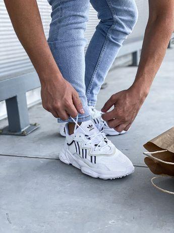 Кроссовки Мужские Adidas Ozweego White (Топ Качество) /Адидас Озвиго