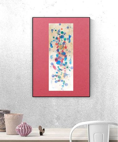 abstrakcyjny rysunek, kolorowa dekoracja, grafika do loftu, minimalizm