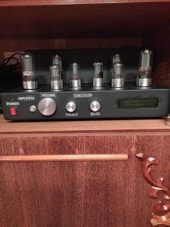 ламповый усилитель из темброблоком 8 ламп  2x30 W