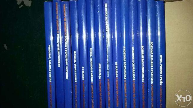 O mundo da cozinha. Coleção de 14 livros. Novos e ainda plastificados.