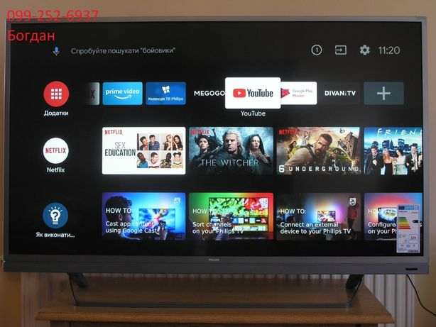 Телевізор Smart,Android,4K Philips 49PUS7503/12 новий