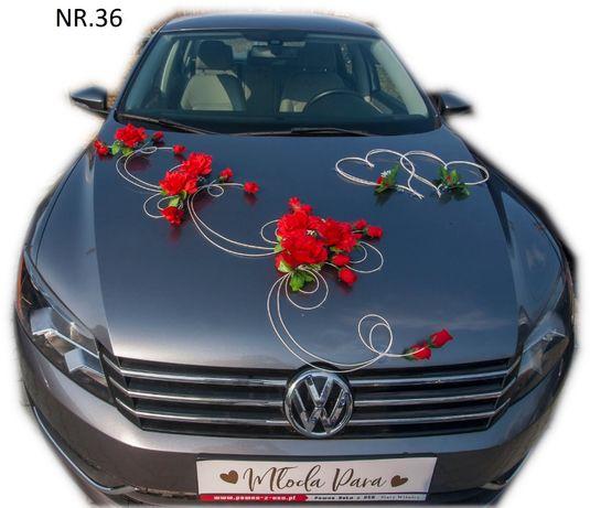 Dekoracja samochodu ozdoba na auto do ślubu NR.36 DOWOLNY KOLOR