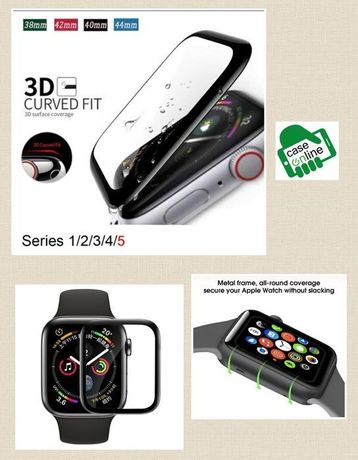 Pelicula Full Glue 3D P/ Apple Smart watch 38mm / 42mm / 44mm