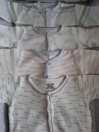 Pajacyki śpioszki piżamki 4 szt. CALVIN KLEIN NEXT MINICLUB roz. 62