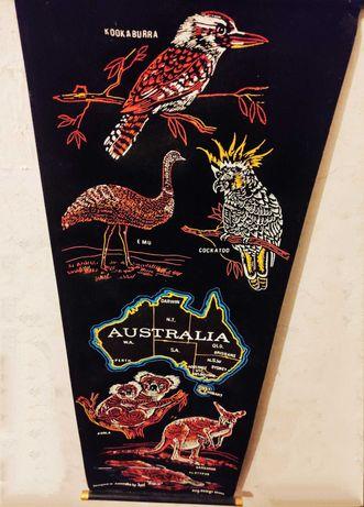 Австралия - Баннер Бархатный Australia (Коала, Кенгуру), 1 метр